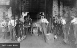 Workmen, Charles Lathe & Co Foundry c.1910, Tipton