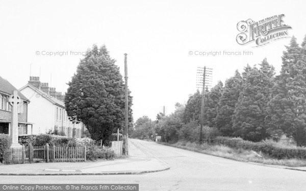 Photo of Tiptree, Memorial Corner And Chapel Road c.1955