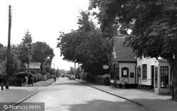 Tiptree, Post Office And Church Road 1953