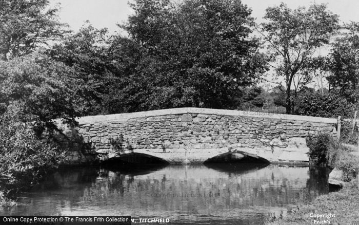 Photo of Titchfield, Anjou Bridge And The River Meon c.1955