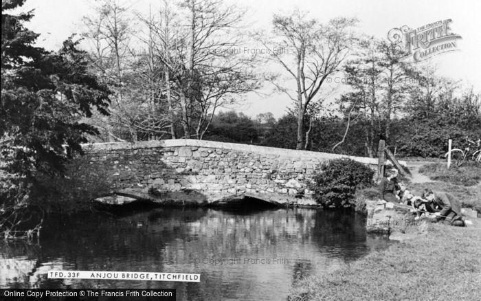 Photo of Titchfield, Anjou Bridge c.1960