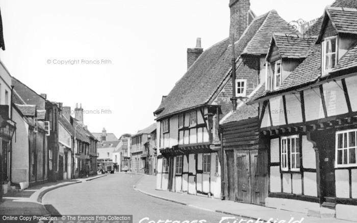 Photo of Titchfield, Elizabethan Cottages, South Street c.1955
