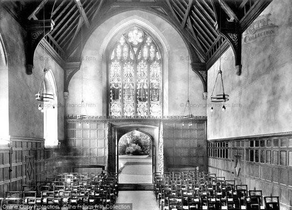 Photo of Tiverton, Blundell's School Chapel 1930