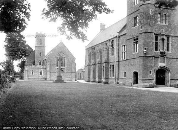 Photo of Tiverton, Blundell's School Chapel And War Memorial 1930