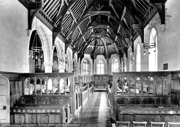 Tiverton, Blundell's School Chapel, interior 1930