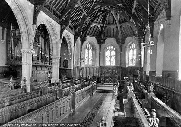 Photo of Tiverton, Blundell's School Chapel Interior 1930