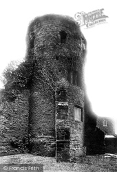 Tiverton, Castle, Old Tower 1896