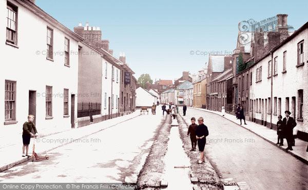 Photo of Tiverton, Castle Street 1920