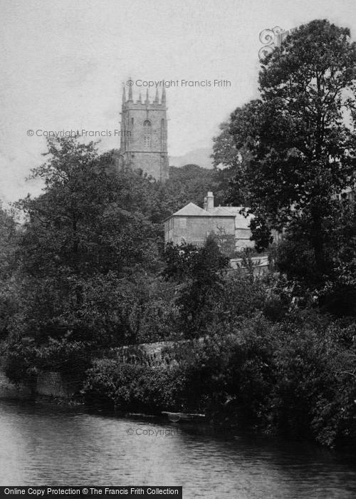 Photo of Tiverton, Church From Bridge 1903