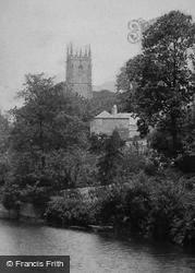 Tiverton, Church From Bridge 1903