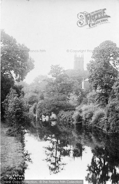 Photo of Tiverton, Church From Bridge 1914