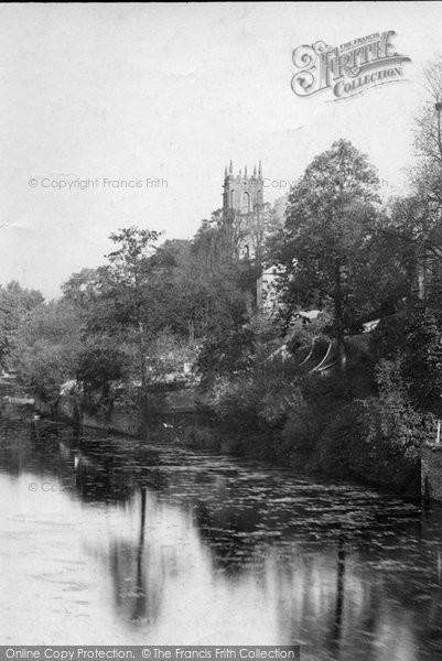 Photo of Tiverton, Church From The Bridge 1890