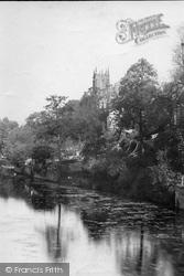 Tiverton, Church From The Bridge 1890