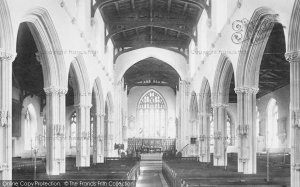 Photo of Tiverton, Church Interior 1896