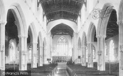 Tiverton, Church Interior 1896