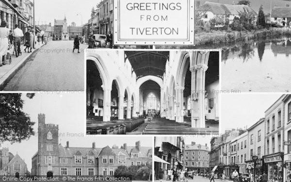 Photo of Tiverton, Composite c.1955