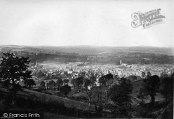 Tiverton, From Exeter Hill 1890