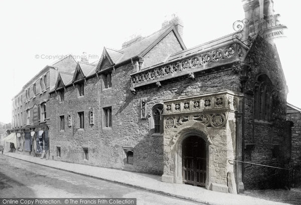Photo of Tiverton, Greenway's Almshouses 1896