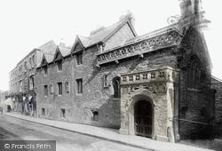 Tiverton, Greenway's Almshouses 1896