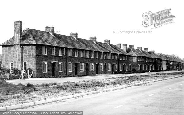 Photo of Tiverton, New Council Houses, Exeter Road c.1955