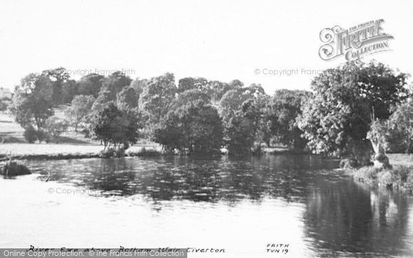 Photo of Tiverton, River Exe Above Bolham Weir c.1955