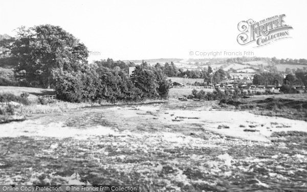 Photo of Tiverton, River Exe Below Bolham Weir c.1955