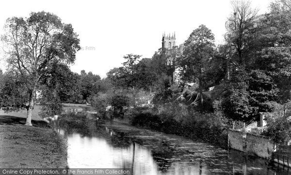 Photo of Tiverton, River Exe From The Bridge 1890