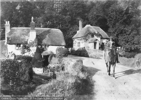 Photo of Tiverton, Rock Cottages 1907