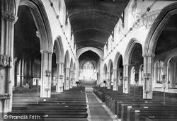 Tiverton, St Peter's Church Interior 1890