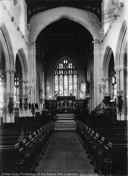 Photo of Tiverton, St Peter's Church Interior 1907