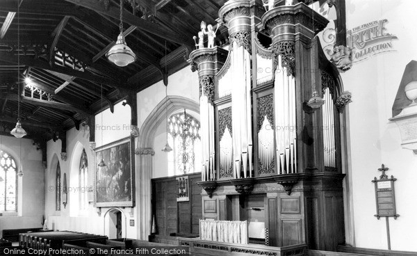 Photo of Tiverton, St Peter's Church, The Organ c.1960