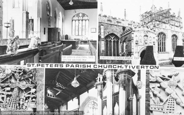 Photo of Tiverton, St Peter's Parish Church Composite c.1960