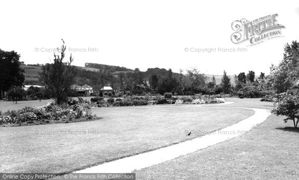 Photo of Tiverton, The Gardens c.1960
