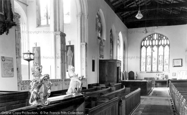 Photo of Tiverton, The Lion And Unicorn 1615, St Peter's Church c.1960