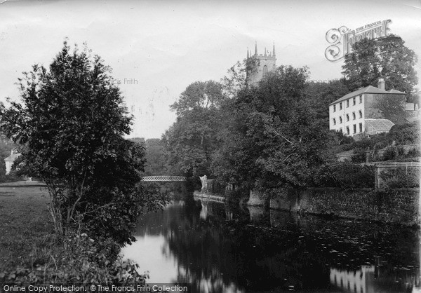 Photo of Tiverton, The River Exe c.1890