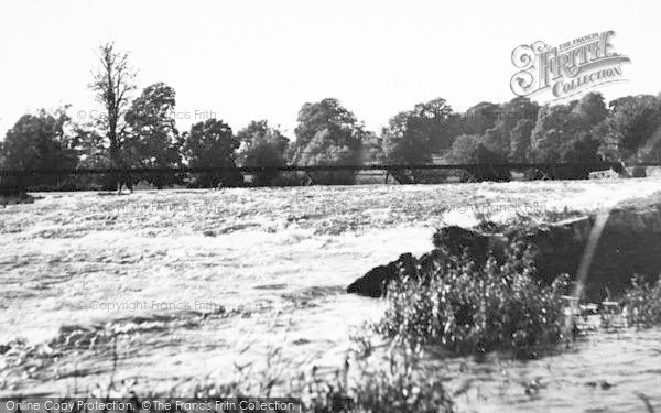 Photo of Tiverton, The Weir c.1955