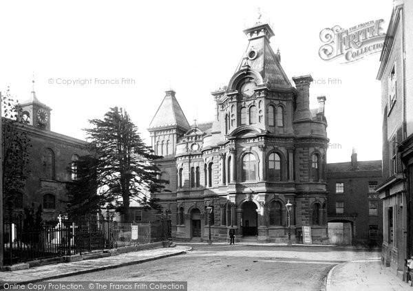Photo of Tiverton, Town Hall 1890, ref. 23726