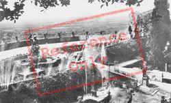Villa D'este, La Rometta Fountain And Roma Statue c.1930, Tivoli