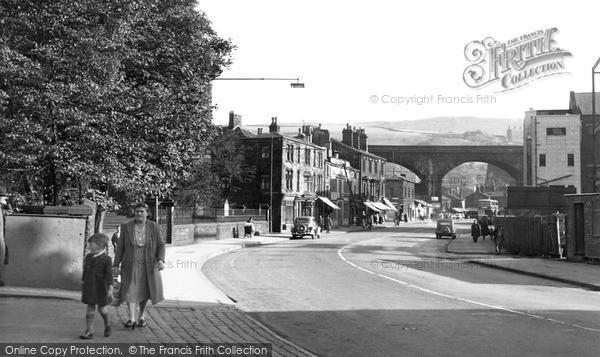 Photo of Todmorden, Burnley Road c.1955