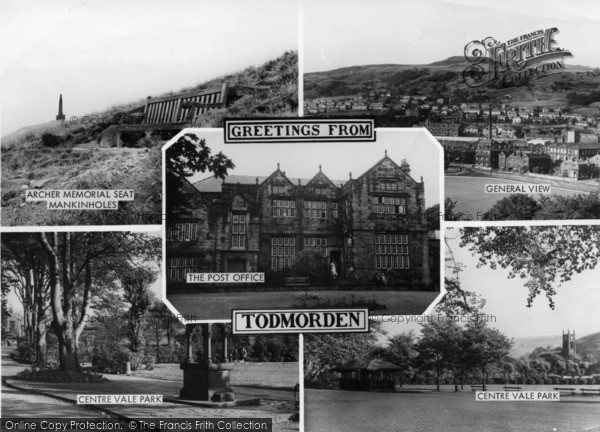 Photo of Todmorden, Composite c.1955