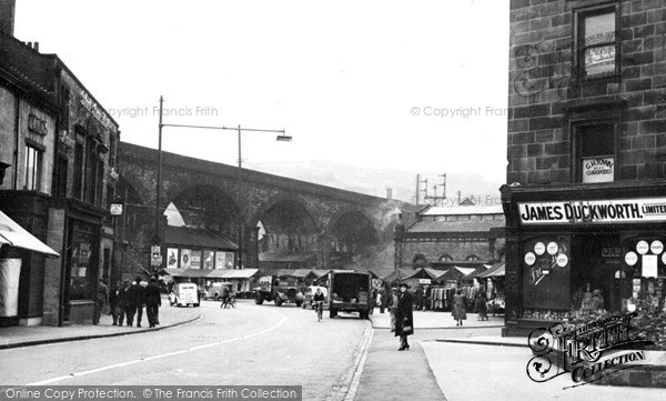 Photo of Todmorden, The Market 1951