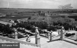 Toledo, San Servando Castle From Alcazar 1960