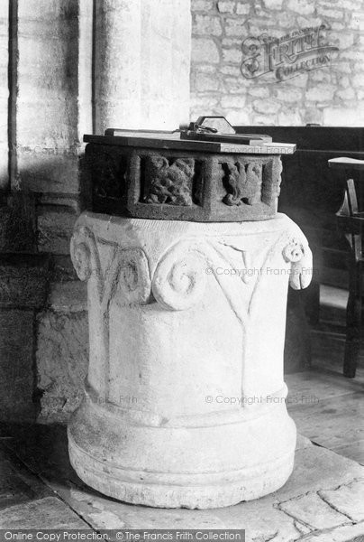 Photo of Toller Porcorum, The Church Of St Andrew And St Peter, The Font 1906