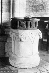Toller Porcorum, The Church Of St Andrew And St Peter, The Font 1906