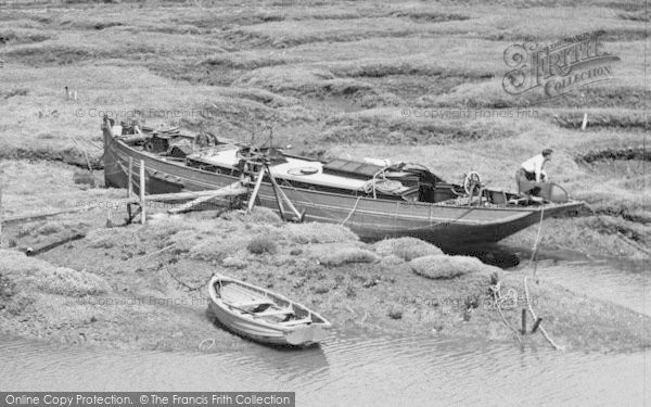 Photo of Tollesbury, A Boat, From Woodrolfe c.1960
