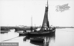 Tollesbury, Fishing Boat At Woodrolfe c.1955