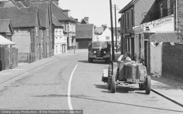 Photo of Tollesbury, Man On Tractor 1952