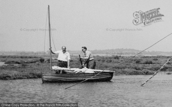 Photo of Tollesbury, Rickards, Two Men In A Boat c.1960