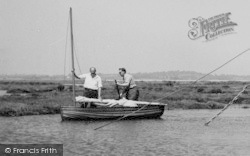 Tollesbury, Rickards, Two Men In A Boat c.1960
