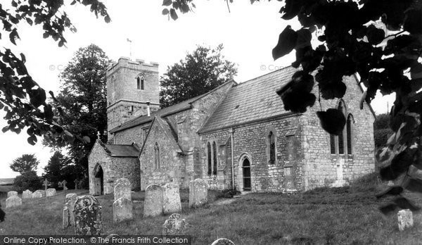 Photo of Tolpuddle, Church Of St John The Evangelist c.1955